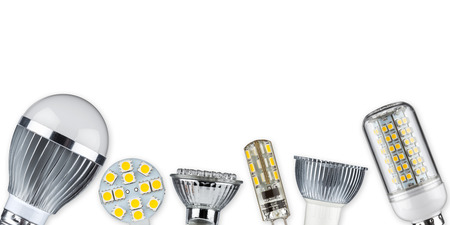 Foto de different led light bulbs - Imagen libre de derechos