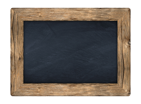 Photo pour little blackboard with wooden frame in front of white background - image libre de droit