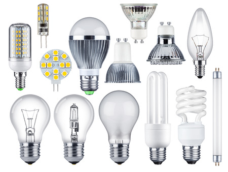 Foto de set of different light bulbs - Imagen libre de derechos