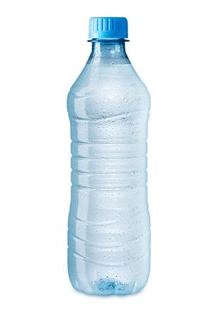 Foto de ice cold water bottle on white background - Imagen libre de derechos