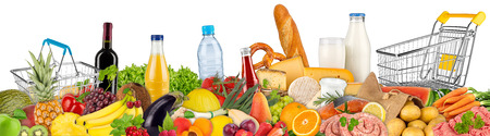 Photo for fresh variation of food and beverages - Royalty Free Image