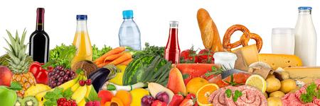 Photo pour fresh variation of food and beverages - image libre de droit