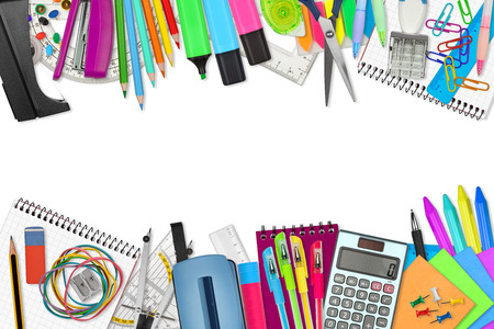 Foto de school / office supplies on white background - Imagen libre de derechos