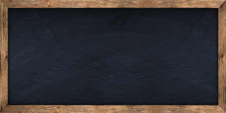 Photo for wide blackboard with wooden frame - Royalty Free Image