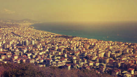 View of Alanya - a city in Turkey on the Turkish Riviera on the Mediterranean. This is a popular tourist resort Which is famous for beaches, monuments and the right climate. It is also a place of many trips to Turkey.