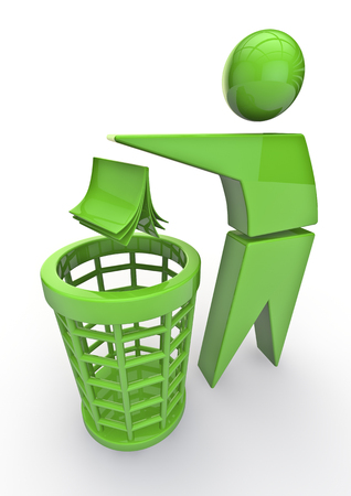Photo for Recycle trash  3D render of recycle trash symbol - Royalty Free Image