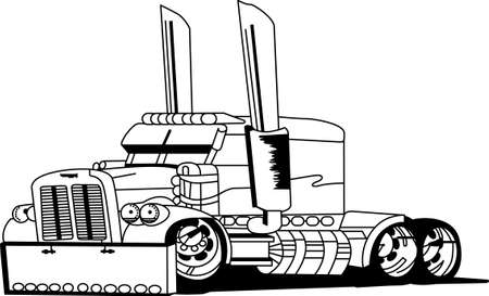 Illustration pour The classic farm truck will satisfy vehicle-lovers of any age!  A great design for T-shirts and sweatshirts - image libre de droit