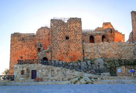 Photo for Ruins of Ajlun castle in Jordan on a sunny day. - Royalty Free Image