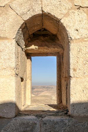 Photo for Ruins of ancient castle in the desert of Shobak in Jordan - Royalty Free Image