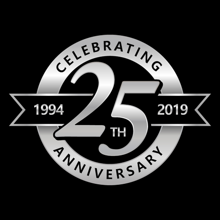 Illustration for Celebrating 25th Years Anniversary - Royalty Free Image
