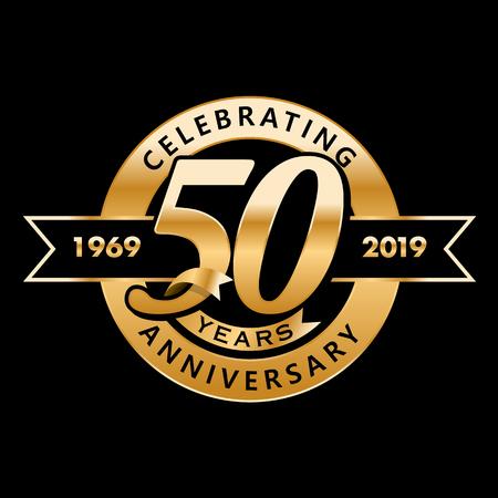 Illustration pour Celebrating 50th Years Anniversary - image libre de droit