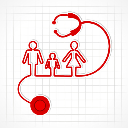 Photo pour Stethoscope make family icon stock vector - image libre de droit