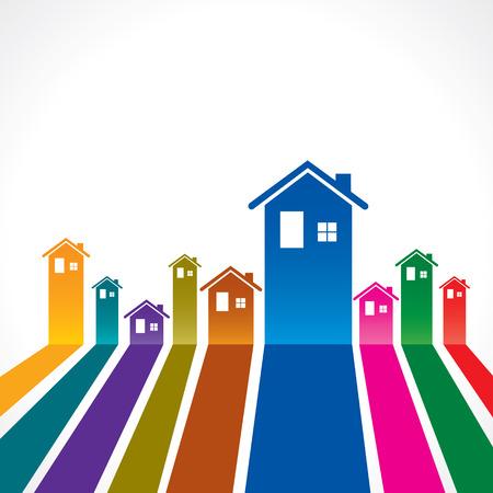 Ilustración de Real Estate background for sale property concept stock vector - Imagen libre de derechos