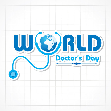 Photo pour Creative Doctors Day Greeting stock vector - image libre de droit