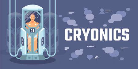 Illustration pour Cryonics - image libre de droit