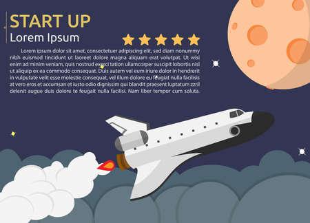 Illustration pour Space Shuttle Background - image libre de droit