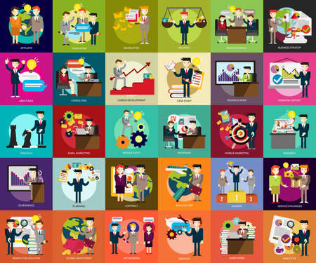 Illustrazione per Business People - Immagini Royalty Free