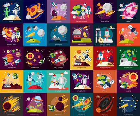 Ilustración de Space and Universe - Imagen libre de derechos