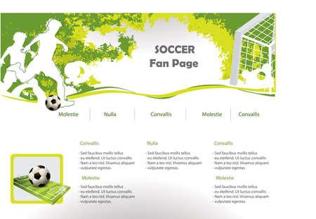 Soccer web site design template