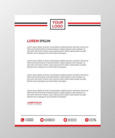 Illustration pour Professional Letterhead Templates - image libre de droit