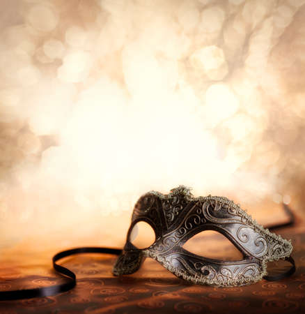 Photo for venetian mask with glittering background - Royalty Free Image