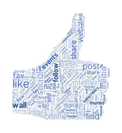 Social Media Like Symbol Concept Word Cloud
