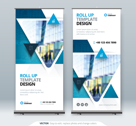 Illustration pour Roll Up Banner stand. Presentation concept design. - image libre de droit