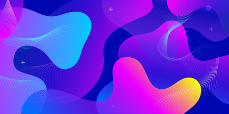 Illustrazione per Color gradient background design. Abstract geometric background with liquid shapes. Cool background design for posters. Eps10 vector illustration - Immagini Royalty Free