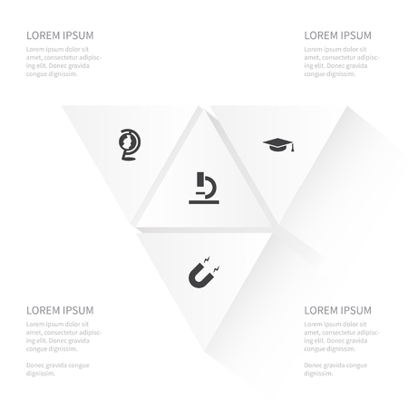 Foto de Icon Education Set Of Geography, Zoom, Magnetization And Other Vector Objects. Also Includes Attract, Zoom, Microscope Elements. - Imagen libre de derechos