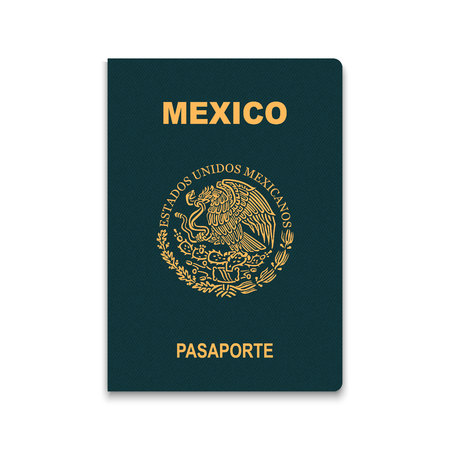 Illustration for Passport of Mexico. Vector illustration - Royalty Free Image