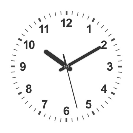 Illustration pour 3d realistic circle shaped clock. Vector illustration - image libre de droit