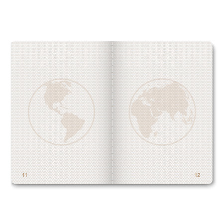 Illustration pour realistic passport blank pages for stamps. empty passport with watermark.  - image libre de droit