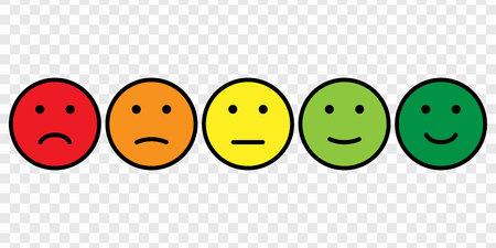 Ilustración de Smiley face icon set - Imagen libre de derechos