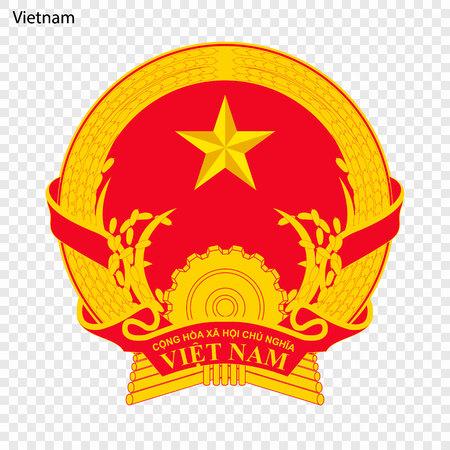 Illustration pour Symbol of Vietnam. National emblem - image libre de droit