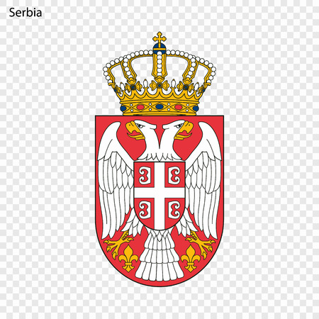 Illustrazione per Symbol of Serbia. National emblem - Immagini Royalty Free