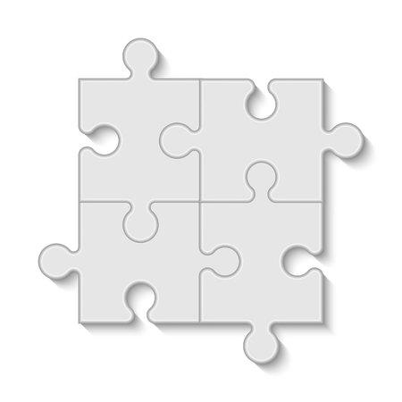 Illustration pour Puzzle piece business presentation, vector - image libre de droit
