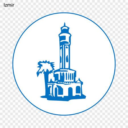 Illustration pour Emblem of Izmir. City of Turkey. Vector illustration - image libre de droit