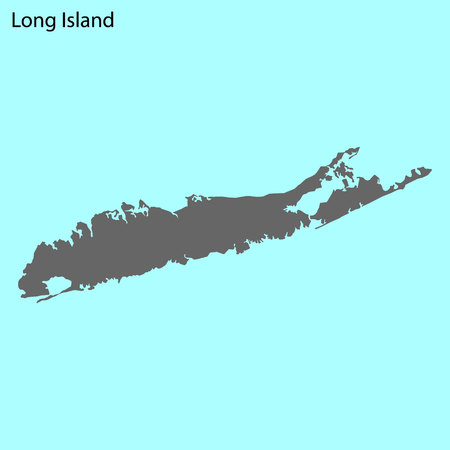 Illustration for High quality map of Long Island is the island of United States - Royalty Free Image