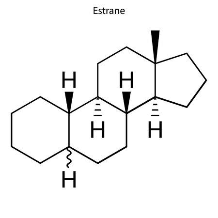 Illustration for Skeletal formula of Estrane. hormone molecule - Royalty Free Image