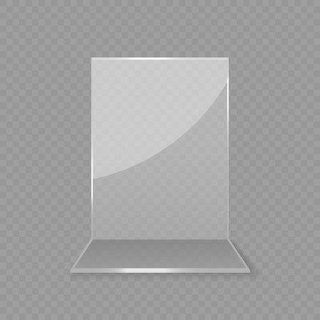 Ilustración de Acrylic glass table card display isolated - Imagen libre de derechos