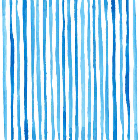 Photo for Watercolor stripes pattern. Drawing by hand. Vector illustration - Royalty Free Image