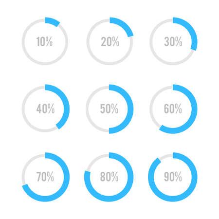 Illustration pour Set of circle diagrams for infographics - image libre de droit