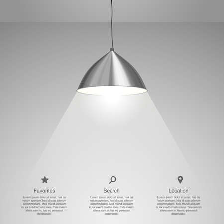 Illustrazione per Lamp Hanging. Vector illustration - Immagini Royalty Free
