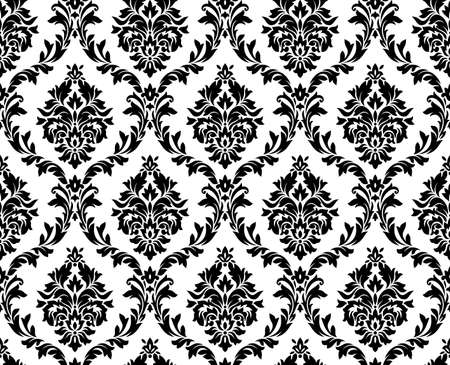 Illustration pour seamless damask pattern.  - image libre de droit