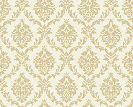 Ilustración de Vector seamless damask pattern. Ornate vintage background - Imagen libre de derechos