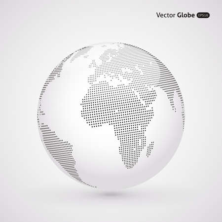 Ilustración de Vector dotted light globe, Central views of Africa - Imagen libre de derechos