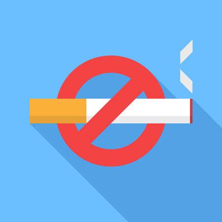 Ilustración de No smoking icon. Flat Design vector icon - Imagen libre de derechos