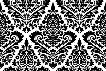 Photo for Vector seamless damask pattern. Ornate vintage background - Royalty Free Image