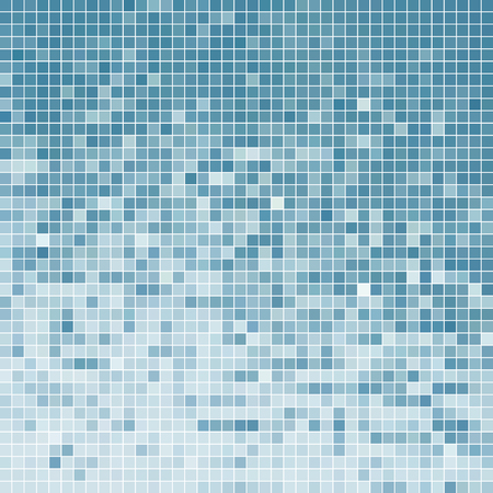 Ilustración de abstract vector square pixel mosaic background - light blue - Imagen libre de derechos