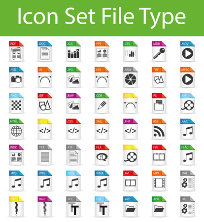 Ilustración de Icon Set File with 49 icons for the creative use in graphic design - Imagen libre de derechos